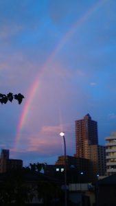 相模原・町田・八王子で自然素材の健康住宅を提供する相陽建設から虹が見えました