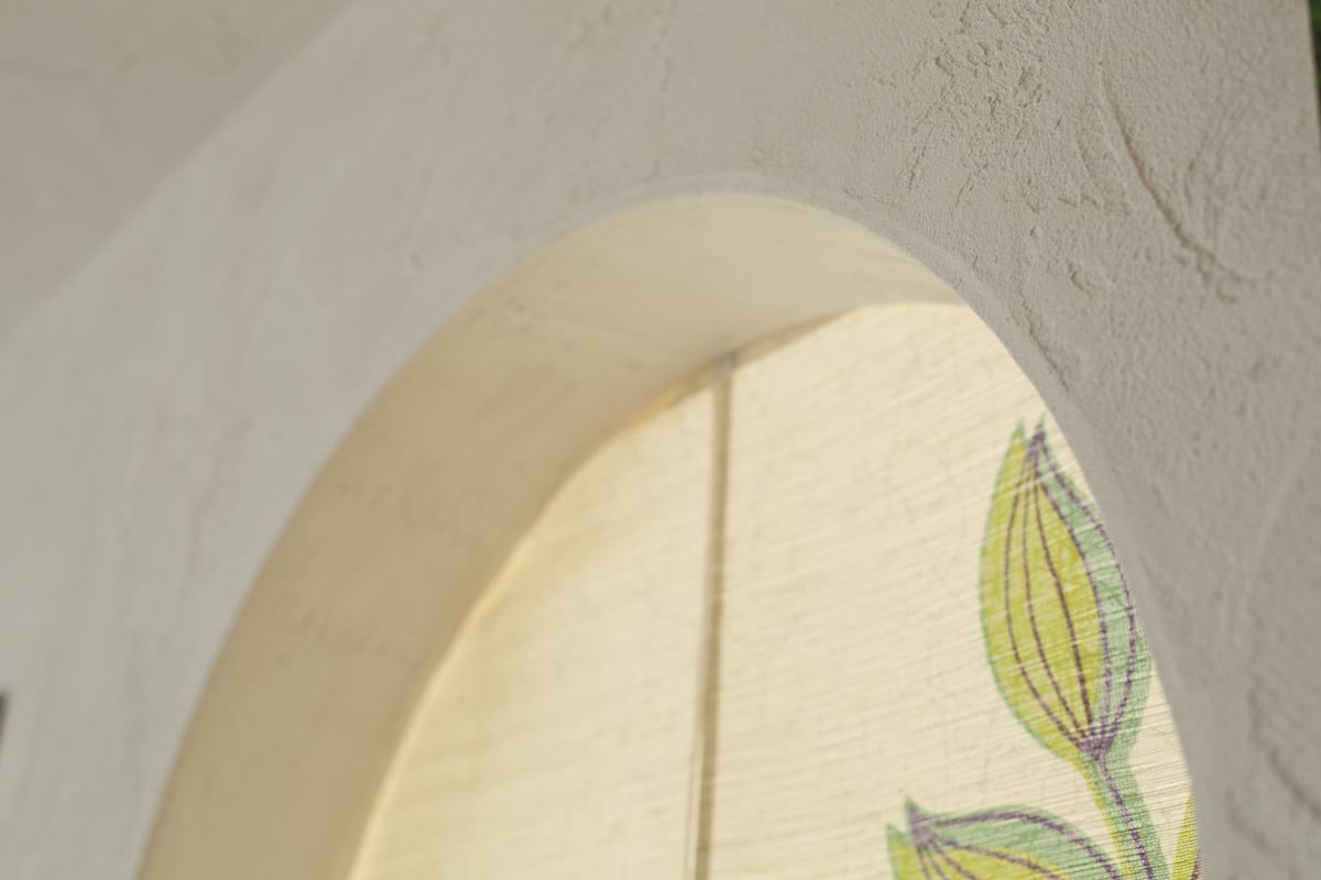 自然素材の内壁